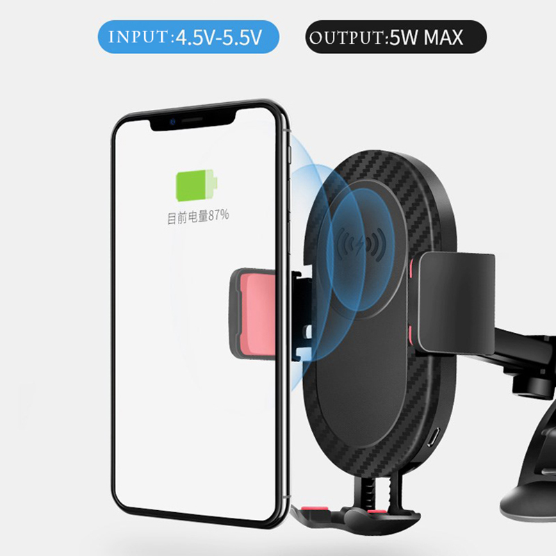 Qi Wireless Charger For iPhone X 8 8Plus Car Holder Quick Phone Car Charger Fast Wireless Charging Pad For Samsung S8 Plus S7