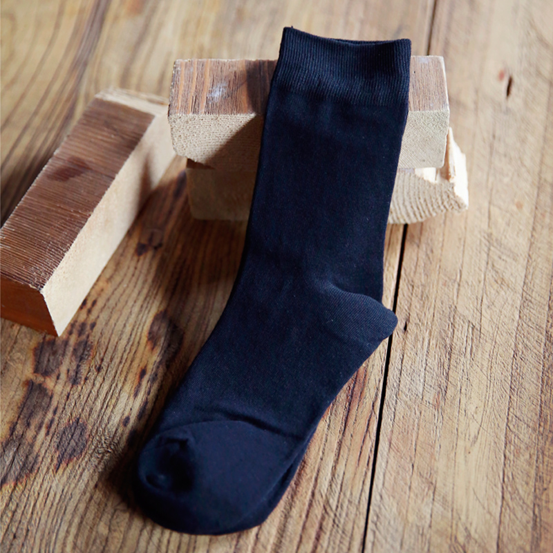 2018 New Man cotton socks male high men sock 9 11 pure color business spring summer four season FL320 1 FL320 4