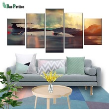 Wall Art Modular Canvas Living Room Home Decor Abstract Poster Frame 5 Pieces Movie Star Wars Painting HD Prints Pictures canvas home decor painting frame modular fishing rod pictures hd prints 5 pieces fishing fish poster living room wall art