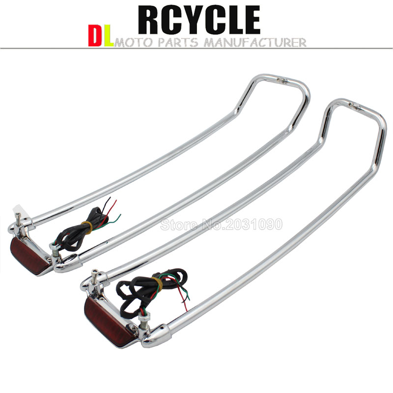 Chrome Saddlebag Lid Top Rail For Harley Touring Road Electra Street Glide FLHT FLHX 1994 2013