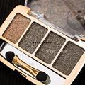 Нейтральный макияж Eyeshadow металлическим отливом теплые 6 Colros обнаженная смоки палитры теней