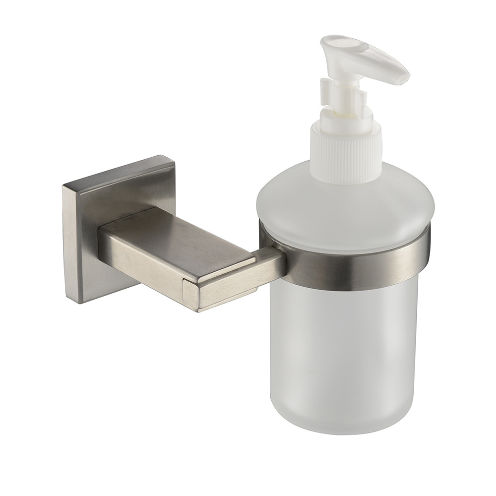 popular square soap dispenserbuy cheap square soap dispenser lots  - auswind modern  stainless steel sliver brush bathroom soap dispensersquare base bathroom products (