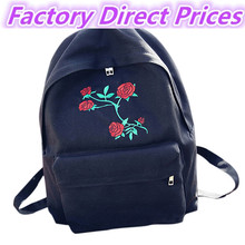 Для женщин Обувь для девочек Вышивка вырос школьная сумка рюкзак сумка Мода priting цветок холст рюкзак drawstring оптовая продажа #6050501