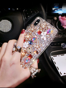 Image 4 - Luxury Bling Lovely Bear Rhinestones Diamonds Soft Case Cover For Xiaomi Redmi 9 9A 9T Pro Note9 Pro Max Note9S Note8 Pro Case