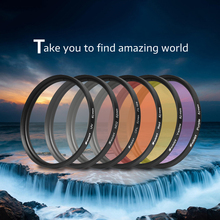 SHOOT 6 In 1 52mm UV Lens Filter Set With Adapter Ring + Lens Cap Protection Lens Cover For GoPro Hero 3+ 4 Camera Accessories