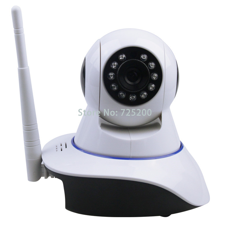 IOS Android Supported Wireless WIFI Pan / Tilt Networok IP Camera HD 720P Surveillance Camera for wifi gsm alarm G90B