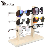 Wood Sunglass Glass Rack Frame jewelry Display Counter Stand Holder Organizer Free Shipping