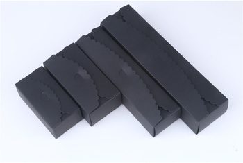 Black Color Kraft Paper Box 4 Size Cake Boxes Blank Biscuit Cookie Wedding Candy Gift Box Free shipping 100pcs/lot