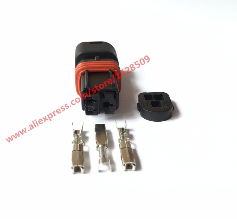 5 Sets Kaifa High Quality 3 Pin Female Wiring Waterproof Electrical Connector Automobile