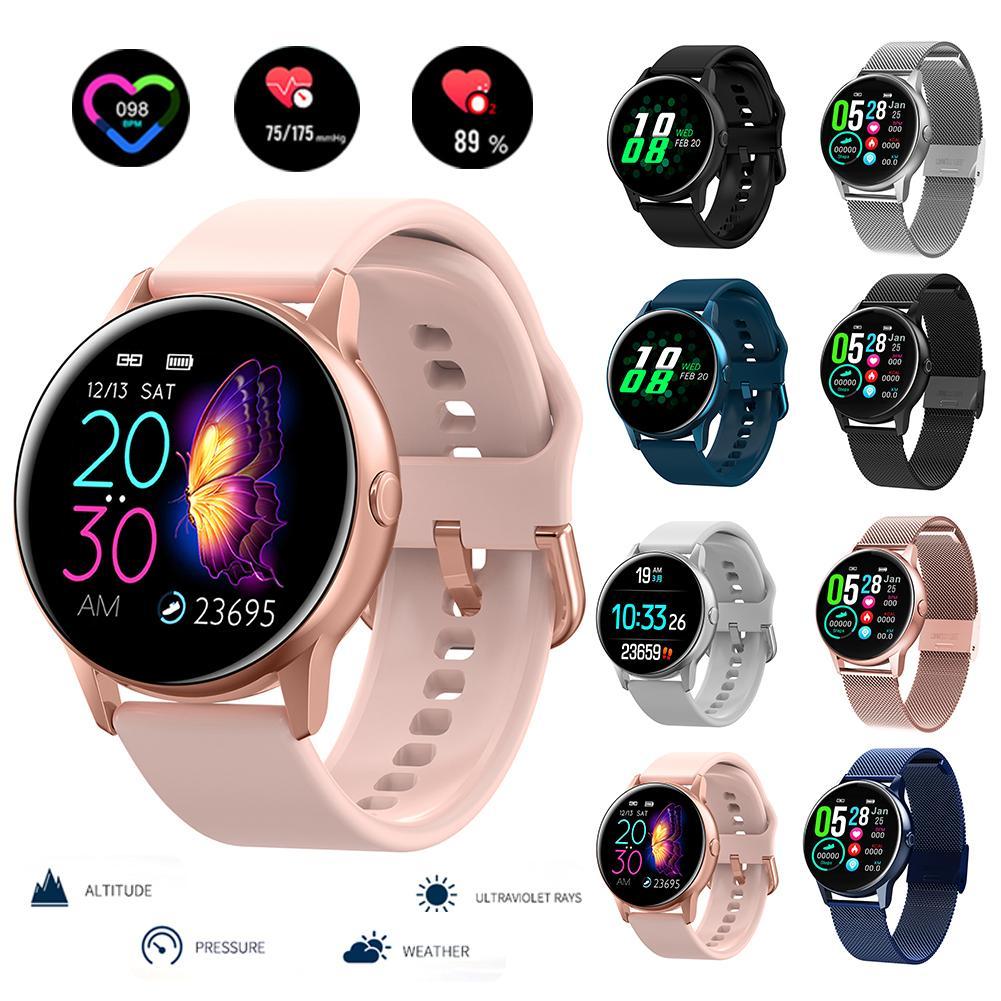 Nouveau Tracker de Fitness femmes montre intelligente hommes Smartwatch IP68 étanche Bracelet moniteur de fréquence cardiaque Sport Bracelet pour Android IOS