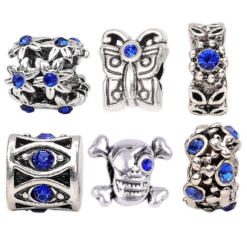 1Set,Silver Plated Eyes,Flowers,Butterflies Charms Bead Fit pandora Charm Bracelets&Bangles DIY Jewelry Making ,SPB100