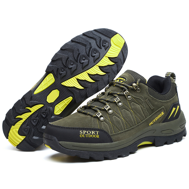 Men Mountain Shoes Winter Autumn Outdoor Tourism Sneaker Non-slip Trekking Hunting Hiking Shoes Size 40-47