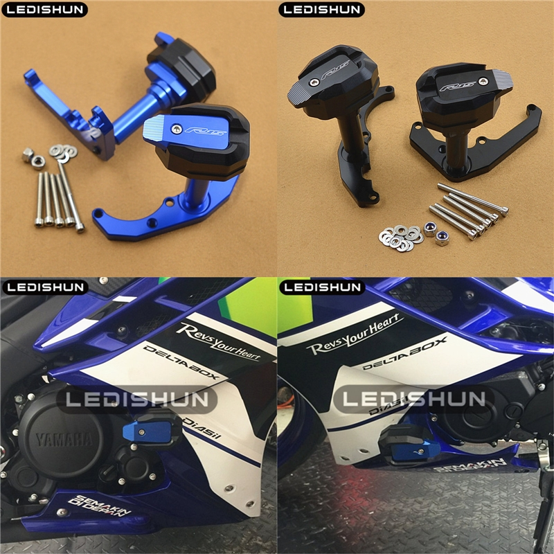 Motorcycle Frame Crash Pads Engine Case Sliders Protector For Yamaha YZF R15 V2 2014 2015 2016