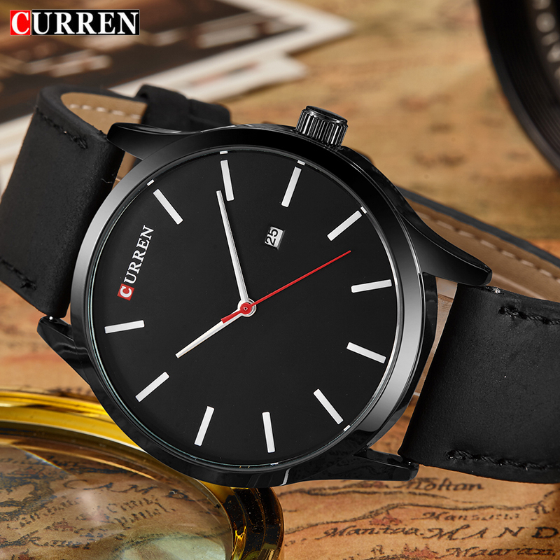 New Men's Sports Quartz Watches Mens Watches Top Brand Luxury Leather Waterproof Wristwatches Relogio Masculino Saat Curren 8214 relogio masculino original curren wristwatches mens watches top brand luxury silicone sports watches military army waterproof