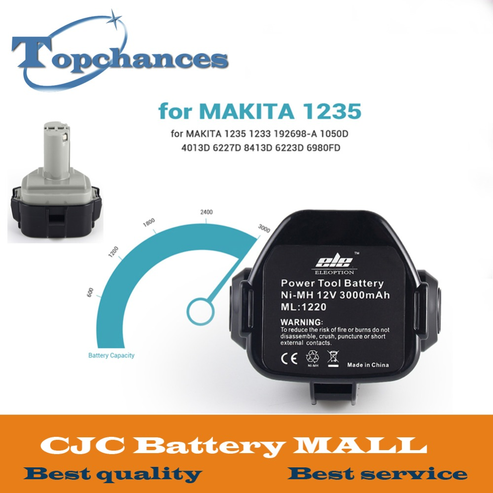 Fast Shipping High Quality 12V 3000mAh Ni-MH Battery for MAKITA 1235 1233 192698-A 1050D 4013D 6227D 8413D eleoption high quality 12v 3000mah ni mh battery for makita 1234 1235 1235f 193138 9 192698 a