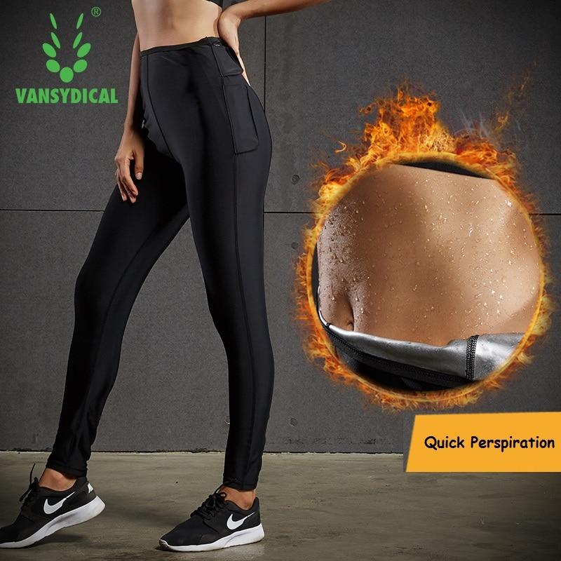 Women Skinny Yoga Pants Running Tights Hight Waist Fitness Workout Leggings 2017 Vansydical Hot Sweat Sports Pants