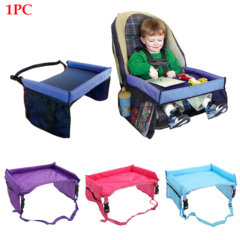 Food Travel Multipurpose Organizer Waterproof Safety Car Seat Tray Infant Stroller Holder Table Storage Drinking Portable
