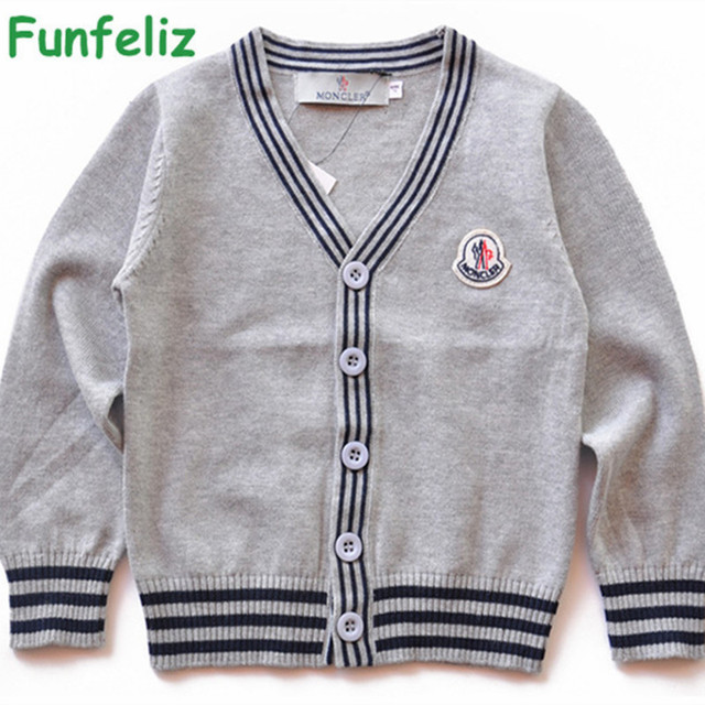 Boys Sweaters Girls Cardigans Solid Color Sweater for Girl Kids Knitwear Spring Autumn Winter Boy Cardigan Children Sweaters