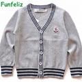 Niños Suéteres de Las Muchachas Cardigans Suéter para La Muchacha Niños Prendas de Punto de Color Sólido Otoño Invierno Suéteres de la Rebeca de Los Niños