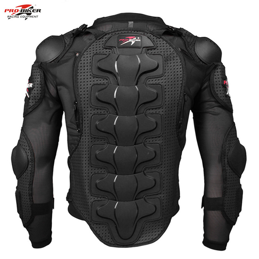 Motorcycle Motocross Clothing Racing Mens Armor Spine Chest Protective Jacket (L)
