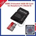 Cartão SD de 16 GB Classe 10 48 MB/s Pré-instalado com Kodi XBMC OSMC para Raspberry Pi 3 Modelo B
