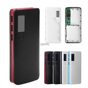 Image 1 - 3 Cổng USB 5X18650 DIY Pin Di Động Giá Đỡ Màn Hình LCD Màn Hình Hiển Thị Công Suất Ngân Hàng Hộp Ốp Lưng Whosale & Trang Sức Giọt