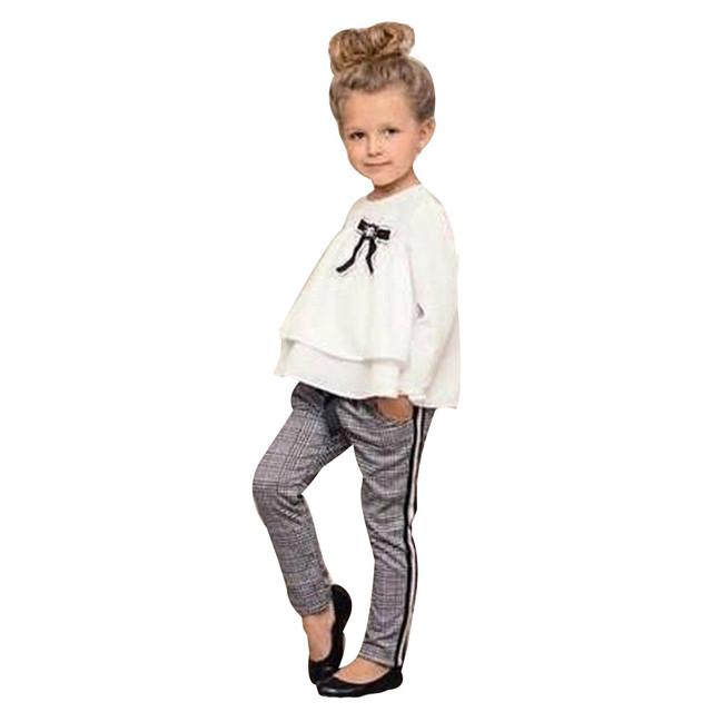 Girl suit 2 piece shirt pants