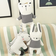 Cute style rabbit unicorn bear Three sets pillow cushion toy, cotton animal plush childrens toy gift, baby room decoration