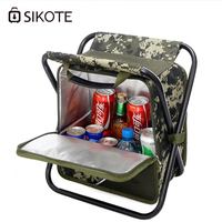 SIKOTE Fold Cooler Bag Chair Insulation Lunch Box Tote Bag Waterproof Crossbody Food Picnic Bag Lancheira