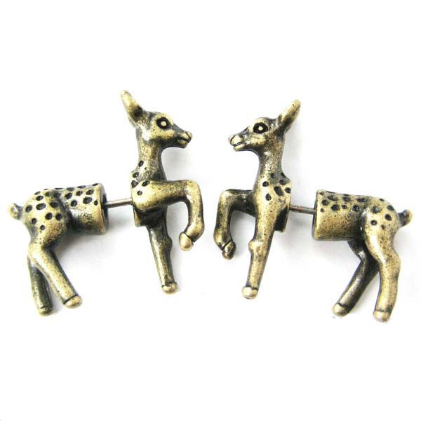 Gift box 925 Silver Sterling Disney Bambi animal Pet Dangle Pendant Charm