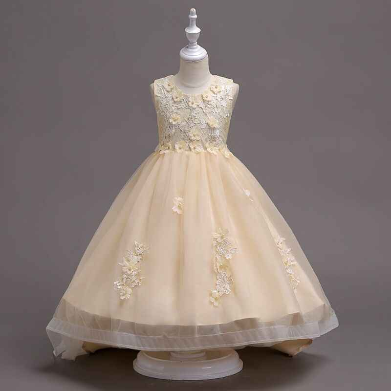 c074c51df35 ... Kids dress Girl s wedding wear wine red handmade beads wedding dress  lace embroidered princess flower Valentine s ...