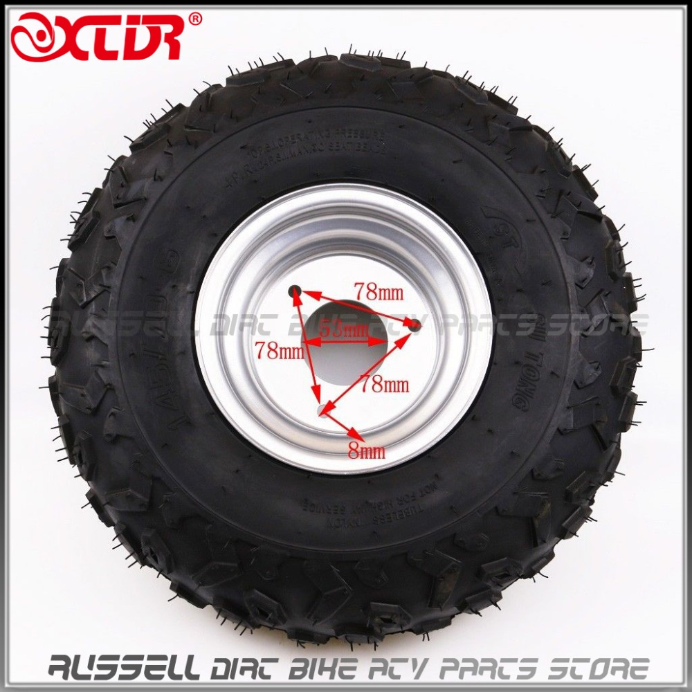 145 70 6 inch front rear wheel rim tyre tire 50cc 110cc quad bike atv buggy in atv parts. Black Bedroom Furniture Sets. Home Design Ideas