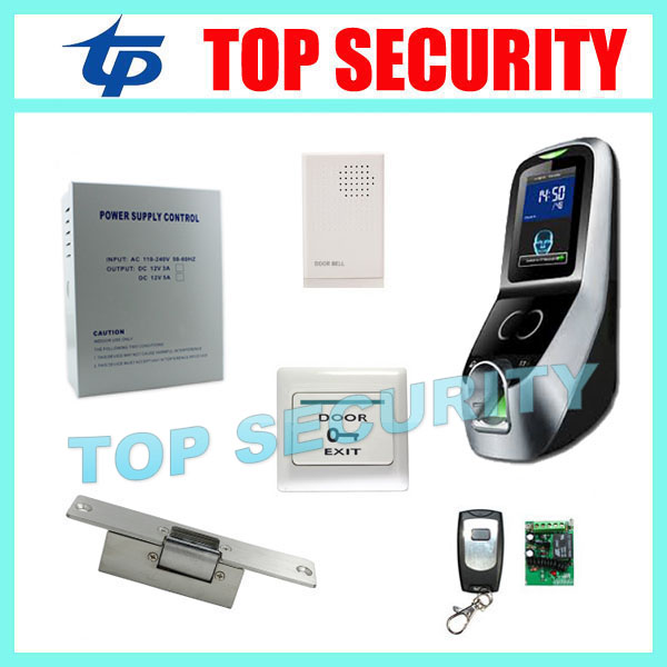 Free shipping iface7 face recognition door access control system TCP/IP biometric fingerprint access controller with accessories tcp ip biometric face recognition door access control system with fingerprint reader and back up battery door access controller