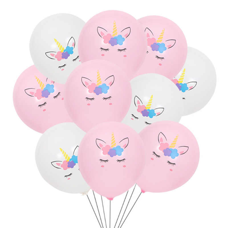 10 Pcs 2 Warna 3 Desain 10 Inches Unicorn Kuda Pony Cantik Pesta Ulang Tahun Balon LaTeX Pesta Dekorasi