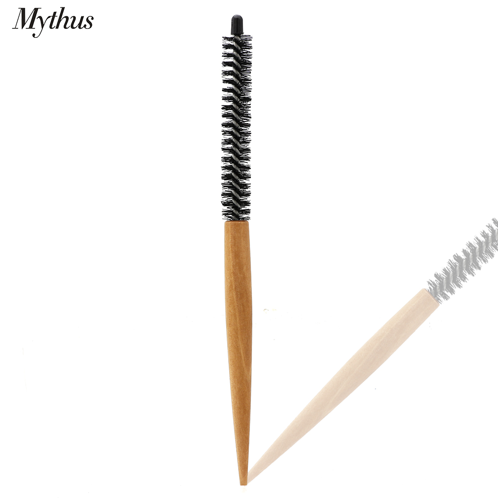 Mythus 16mm 20mm Small Hair Round Brush Short Hair Styling Comb Salon Hair Curling Brush Hair Makeup Comb For Hairdrerssing Tool
