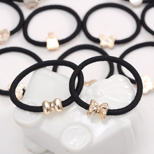 10PCS/Lot New Hair Accessories For Women Black Elastic Rubber Bands Girls Lovely Ropes Ponytail Holder Tie Gums
