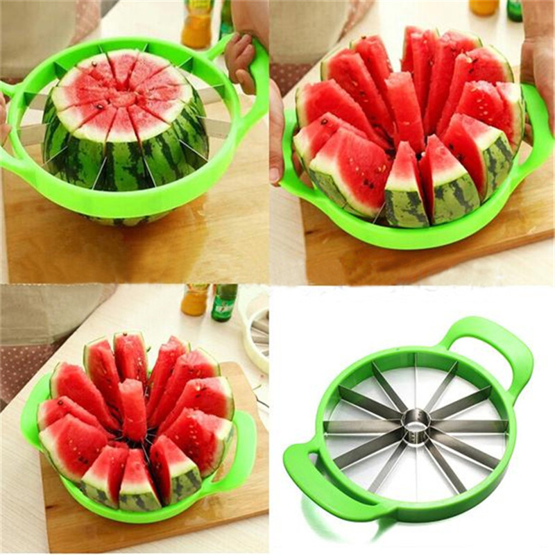Kitchen Practical Tools Creative Watermelon Slicer Melon small Cutter Knife stainless steel Fruit Cutting Slicer Green 250g
