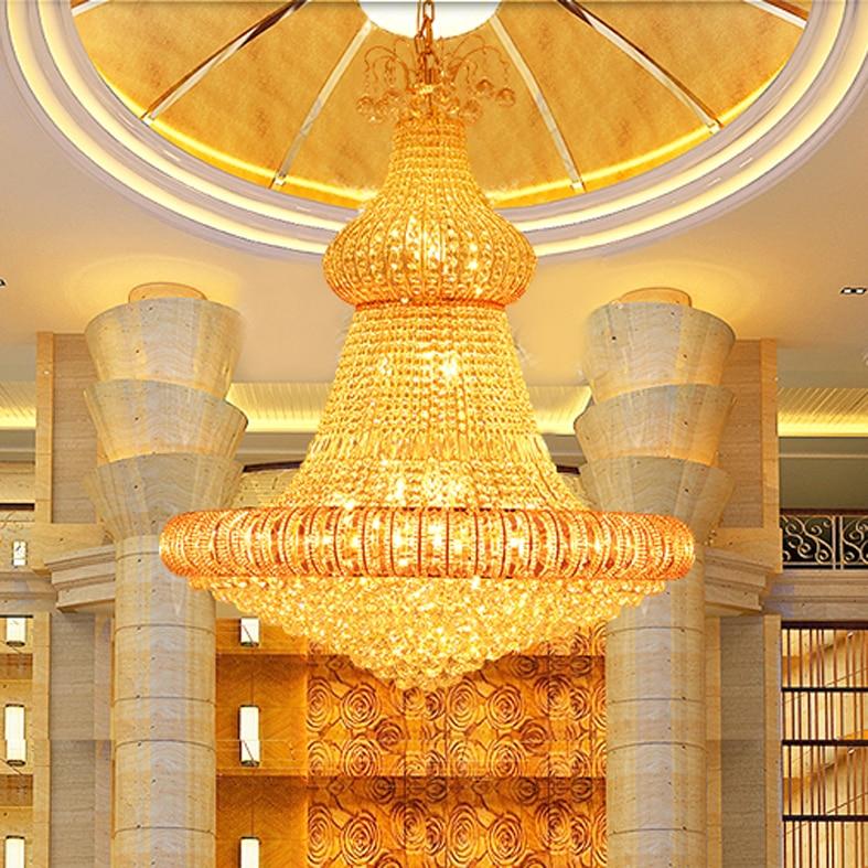 LED Gold Kristallen Kroonluchter Verlichting Armatuur Amerikaanse - Binnenverlichting - Foto 3