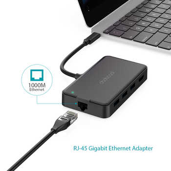 dodocool 8-in-1 USB HUB Multifunction Type C USB C Hub with Type-C 4K Video HDMI Gigabit Ethernet Adapter For Macbook Pro