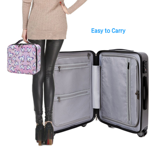 Image 5 - Deanfun ユニコーン化粧ケース多機能化粧品バッグトラベルオーガナイザー列車ケース調節可能なディバイダーで 16001