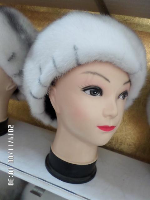 2014 novos chapéus de pele de vison com alta qualidade