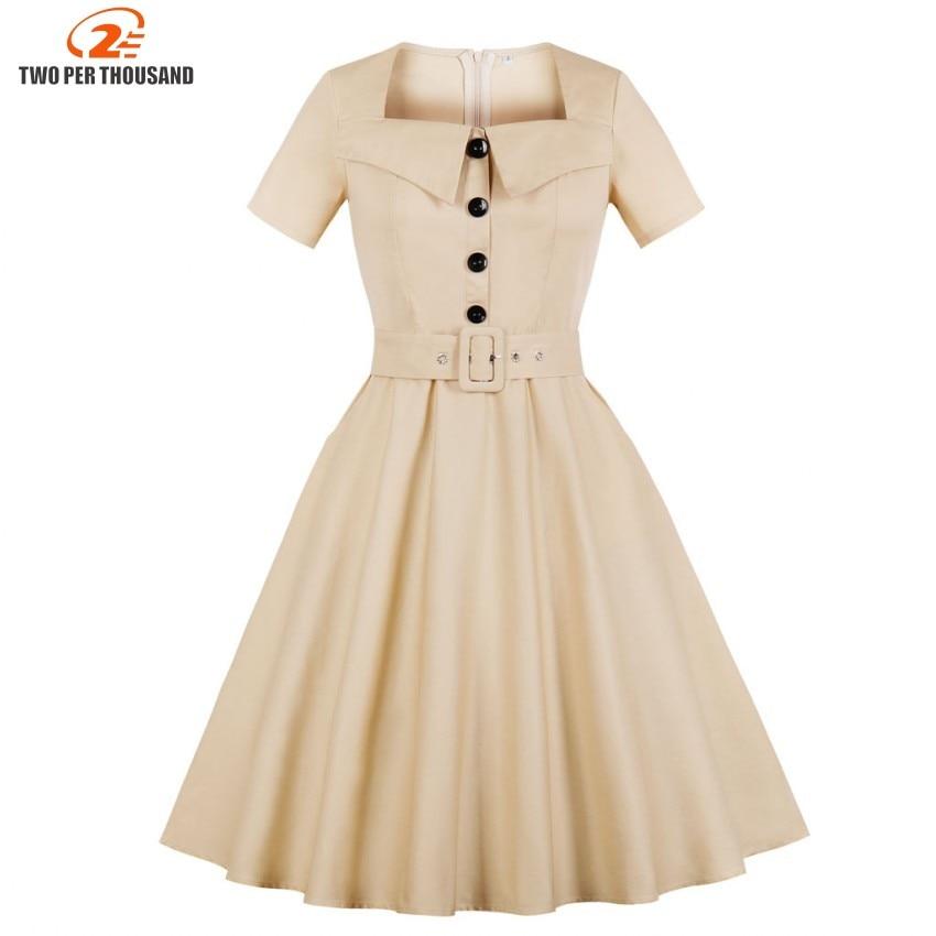 02d2d60819 Big Sale] Hepburn Vintage Dress Women Green Plaid Check Print ...