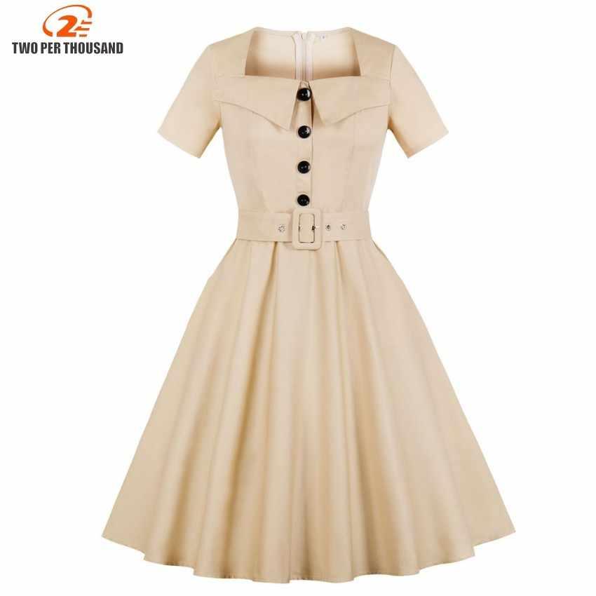 S-4XL размера плюс летнее платье 2018 винтажное рокабилли платье Jurken 50s ретро большие качели Pinup женское платье Одри Хепберн Vestidos