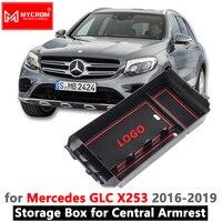 Armrest Box Storage for Mercedes Benz GLC X253 GLC Coupe Accessories 200 250 300 220d 250d 43 63 AMG 2016 2017 2018 Organize Box
