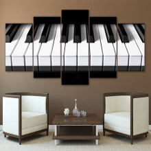 5 pieces canvas art piano keys HD printed music poster canvas painting home decor wall pictures for living room h hopekirk 3 pieces for piano