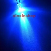 Free shipping 1000pcs 3mm Round Ultra Bright Blue Water Clear LED Light led diode Lamp