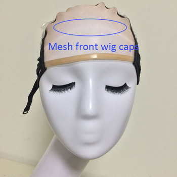 Mesh Front Glueless Lace Wig Cap For Making Wigs With Adjustable Straps Weaving Caps For Women Hair & Hairnets Easycap  6021 2