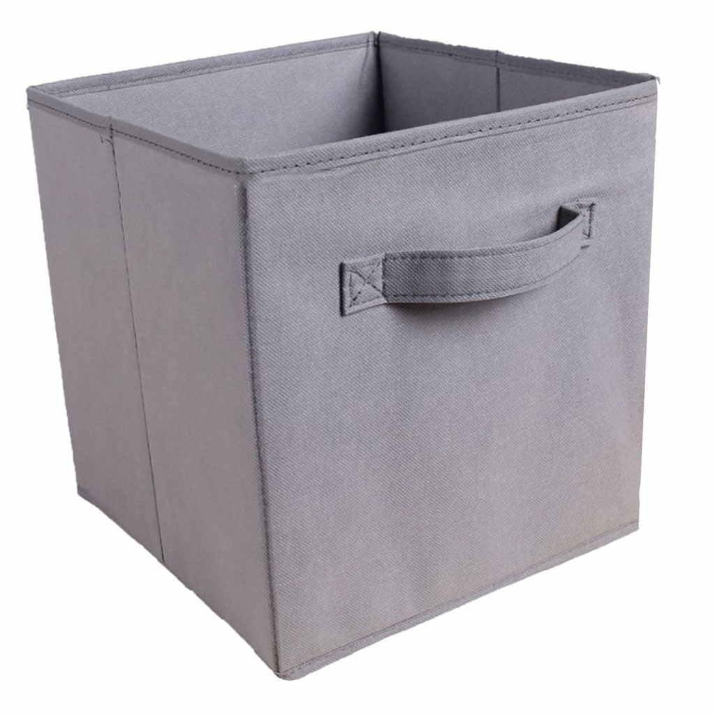 Foldable Cube Storage Bins Decorative Fabric Cubes Organizer For Shelf Closet Kids Toy Unit