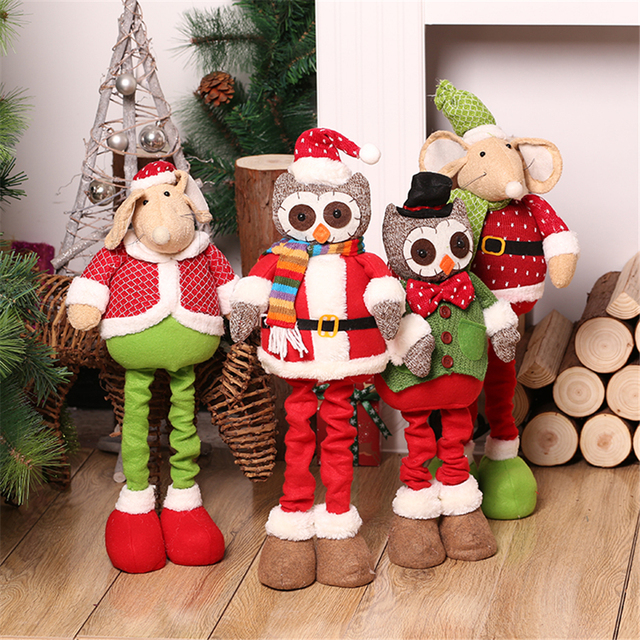 christmas decorations for home red retractable christmas owlmouse figurine christmas gift toy outdoor enfeite