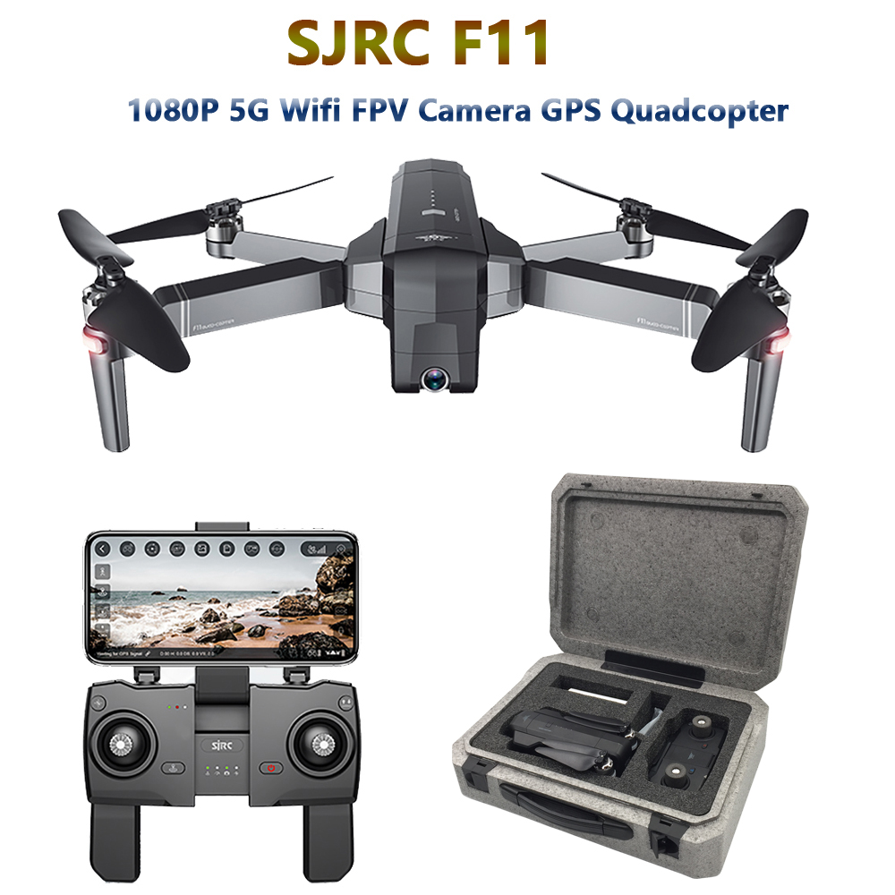 SJRC F11 GPS Drone With 5G Wifi FPV 1080P Camera Brushless Quadcopter 25mins Flight Time Gesture Control Foldable Dron Vs CG033(China)